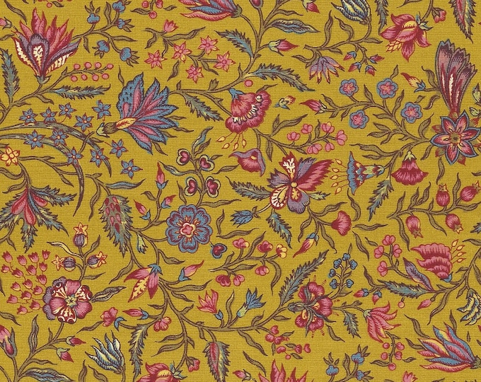 Dutch Chintz - Provence  Golden Yellow 1/2 yd