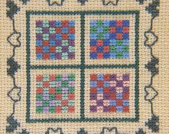 Nine Patch by Juniper Designs - Cross Stitch Mini Kit