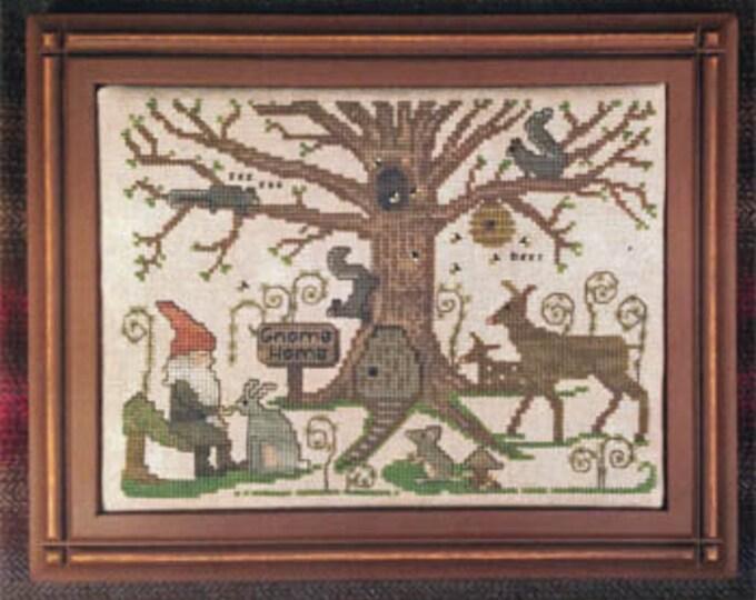 Woodland Gnome - Lone Elm Lane - Cross stitch chart