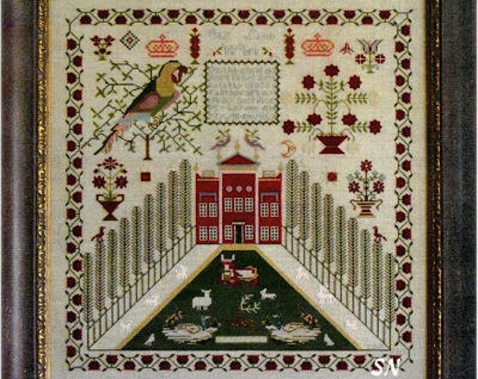 Elizabeth Lamb 1837 - Samplers Not Forgotten - Cross Stitch Chart