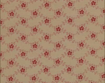 Floral Gatherings Red Trellis M110318 - 1/2yd