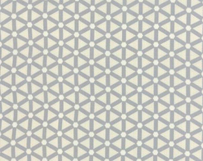 Modern BG Paper Hexagon Wheels Steel Eggshell - 1/2yd
