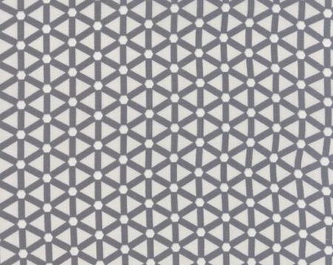 Modern BG Paper Hexagon Wheels Graphite Fog - 1/2yd