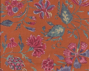 Dutch Chintz - Fleur d'Inde ORANGE 1/2 yd