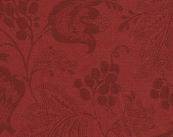 Dutch Chintz - Japanese Red - Ton sur Ton 1/2 yd