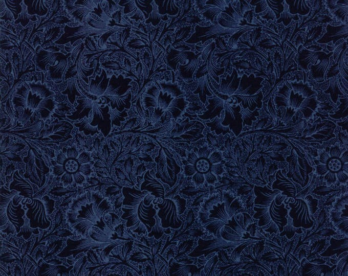 William Morris Poppy 1880 Dk BLue 730324 - 1/2yd