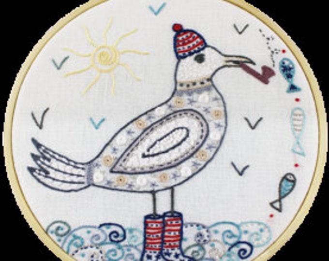 Caption Kerhouet Fishing - Embroidery Kit - Une Chat dans l'Aiguille