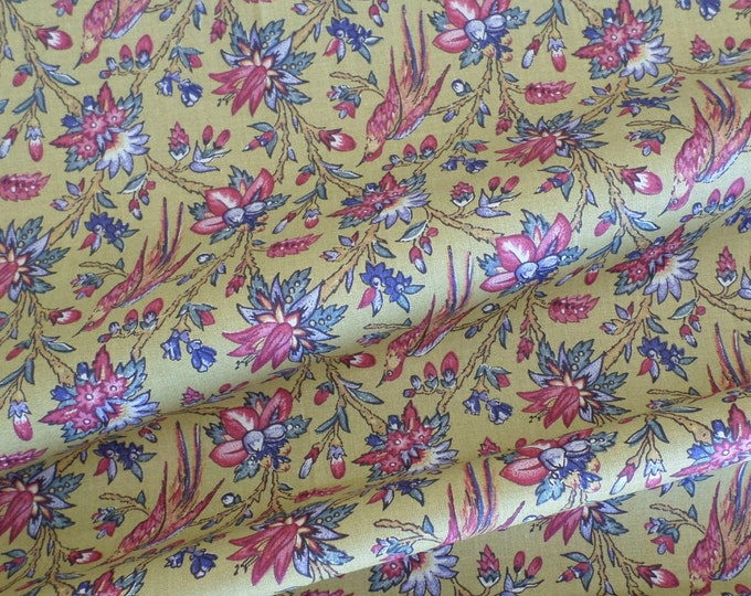 Dutch Chintz - Les Oiseaux du Paradis Yellow 1/2yd