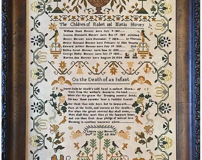 Louisa Horsey 1836 - Shakespeare's Peddler - Cross Stitch Chart