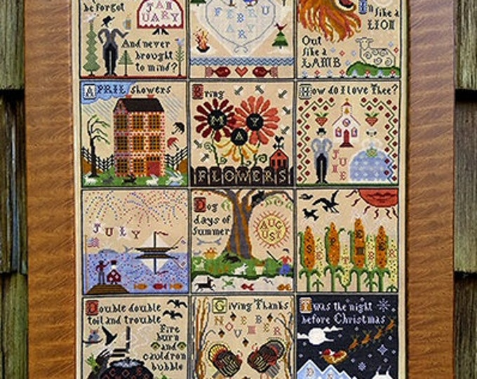 Year at Hawk Run Hollow - Carriage House Samplings - Cross Stitch Chart