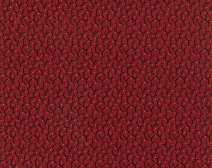 Community Vines Berries Red - 1/2yd
