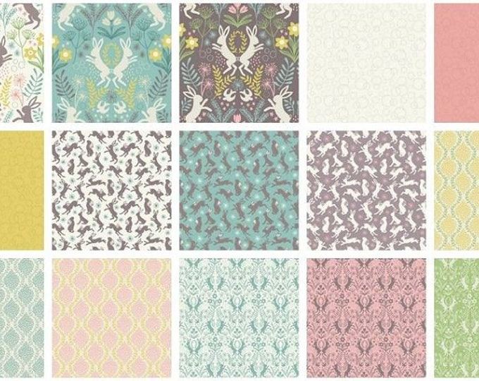 Spring Hare by Lewis and Irene - 15 FQ Bundle