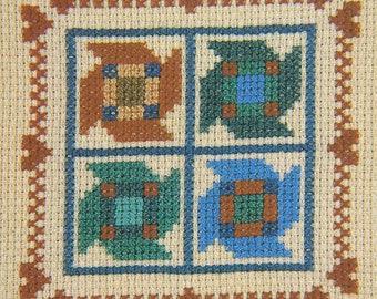 Pinwheel by Juniper Designs - Cross Stitch Mini Kit