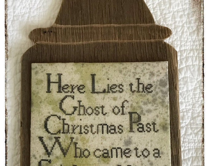 Ghost of Christmas Past Tombstone - Lucy Beam - Cross Stitch Chart