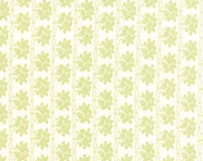 Bespoke Blooms Rose Rows Light Green - 1/2yd