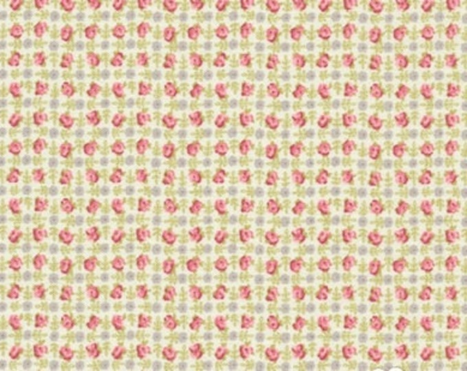 Bespoke Blooms Posie Plaid Pebble Grey - 1/2yd