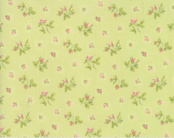 Caroline -  Rosebuds Lt Green 1865314 - 1/2yd