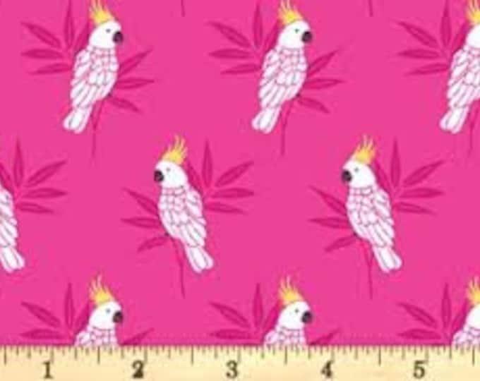 Monsoon Cockatoo Pink 1881P - 1/2yd