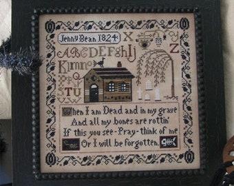 Jenny Bean's Halloween Sampler - Shakespeare's Peddler - Cross Stitch Chart