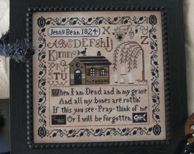 Jenny Bean's Halloween Sampler - Shakespeare's Peddler - Cross Stitch Chart