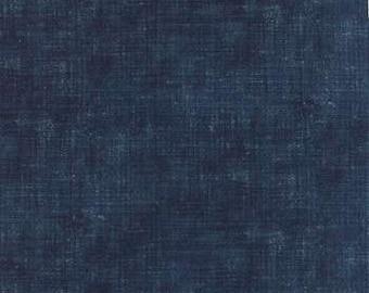 Indigo - Ikat Washed Denim M3290716 - 1/2yd
