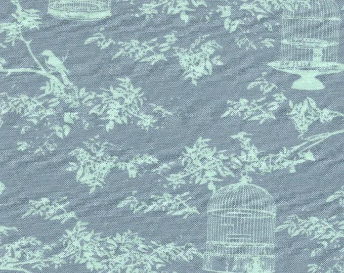 TILDA - Birdcage Toile - Blue/Teal