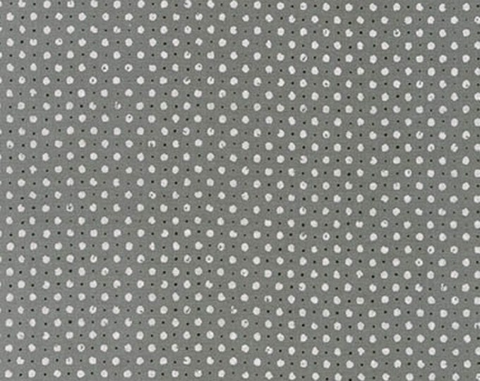 Black and White Steel Dot - 1/2yd