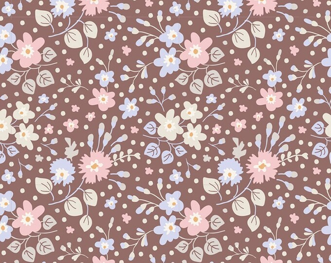 TILDA Plum Garden - Flower Confetti Nutmeg 100189 - Fat Quarter