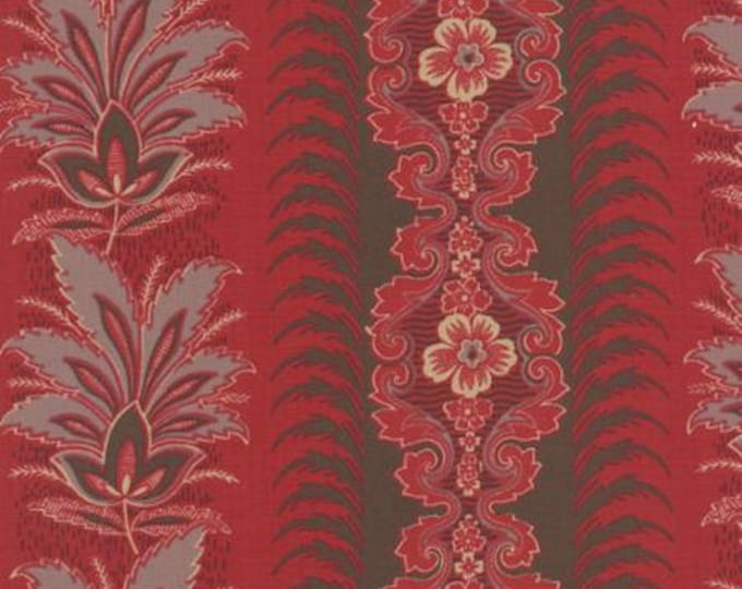 Ville Fleurie Avrille Rouge - 1/2yd