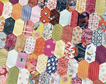 Stretched Hex by Jen Kingwell - Pattern and Template