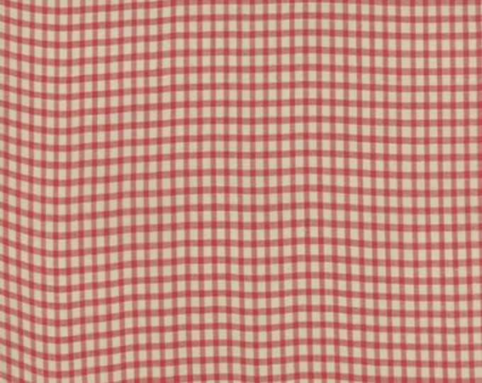 Petite Woven Silky Cotton Check Rouge - 1/2yd