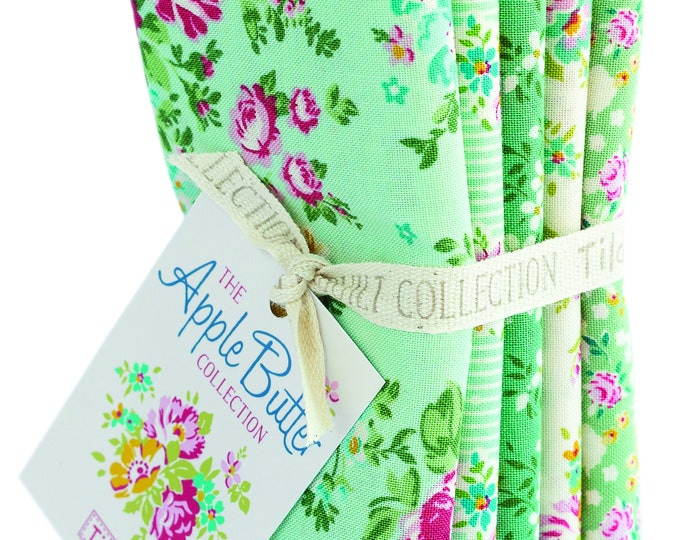 TILDA Apple Butter - Teal Green - 5 FQ Bundle