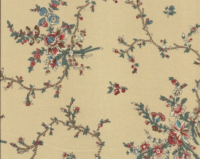 Dutch Heritage Nellore 1027 - Cream - 1/2yd