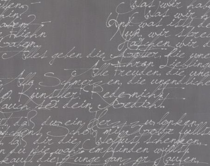 Modern BG Ink Handwriting Graphite - 1/2yd