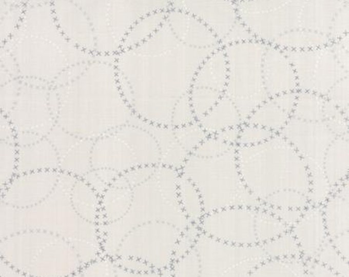 Modern BG Paper XOXO Fog - 1/2yd