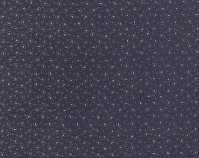 Polka Dots and Paisleys Mini Paisley Deep Blue - 1/2yd