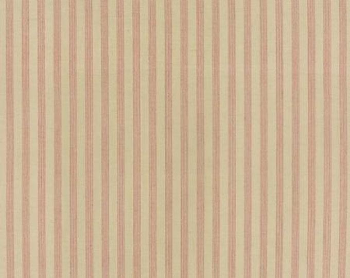 Petite Woven Silky Cotton Stripe Cream Rouge - 1/2yd