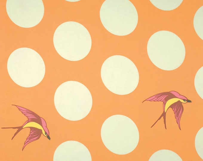 Tula Pink Free Fall Sateen Wide Back - Creamsicle - 1/2yd x 108 inches