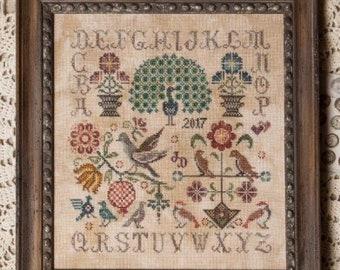 Vintage Birds - Jeannette Douglas - Cross stitch chart