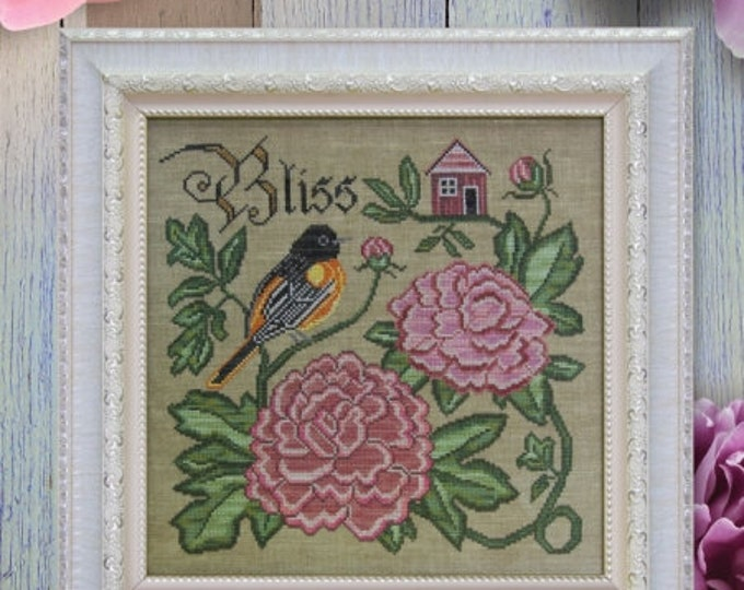 Summer Bliss - Songbird's Garden #6 - Cottage Garden Samplings - Cross Stitch Chart
