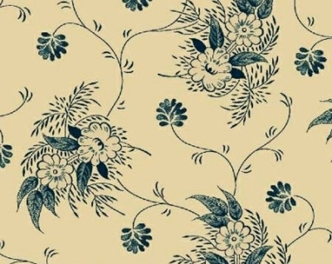 Enduring Legacy - Texture Floral Blue