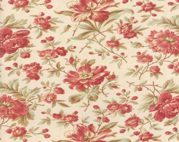 Larkspur Garden Blooms Natural - 1/2yd