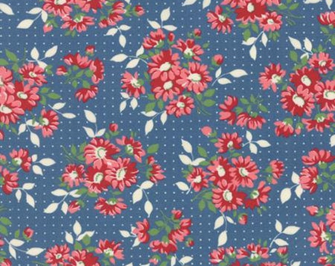 Bread n Butter Dotted Daisy Royal - 1/2yd