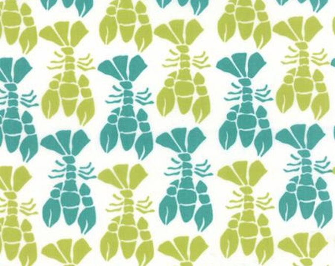 Beach House - Lobster Lime Turquoise - 1/2yd