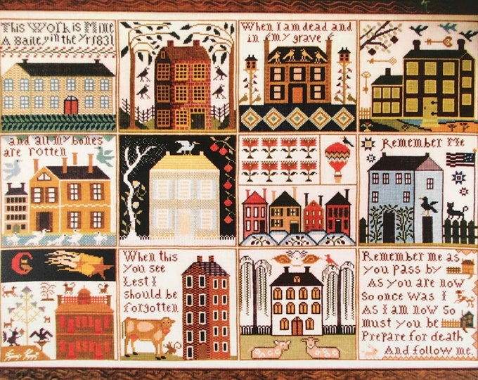 Houses of Hawk Run Hollow - Carriage House Samplings - Cross Stitch Chart