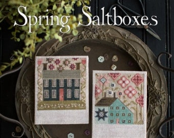 Spring Saltboxes - Plum Street Samplers - Cross Stitch Chart