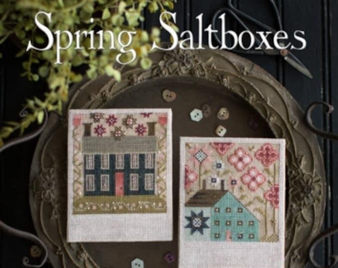 Spring Saltboxes - Plum Street Samplers - Cross Stitch Chart
