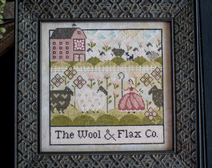 The Wool and Flax Co - Plum Street Samplers - Cross Stitch Chart