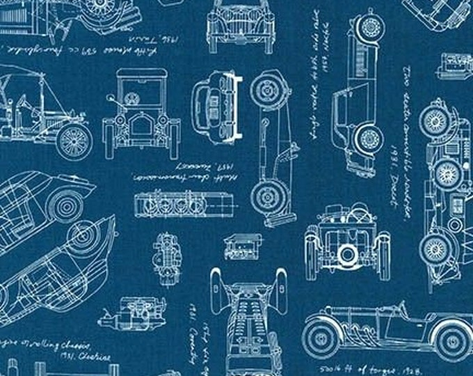 Vintage Blueprints  - Motor Cars 1567462- 1/2yd