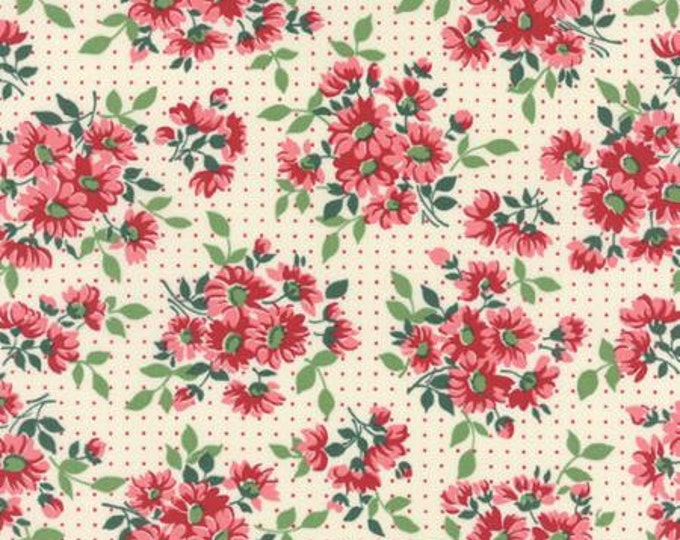 Bread n Butter Dotted Daisy Ivory - 1/2yd